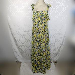 ASOS Maternity Green Purple Floral Maxi Dress